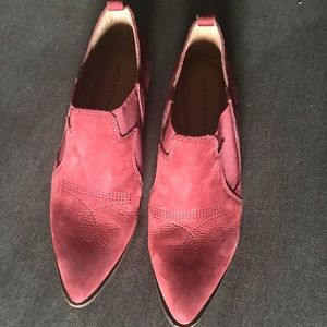 Red lucky brand booties